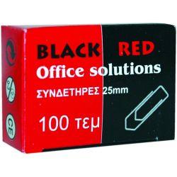 Συνδετηρες 33μμ Νο4/100 Τεμαχια Black-red Οικονομικη Λυση