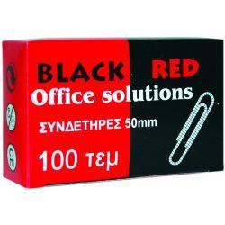 Συνδετηρες 50μμ Νο5/100 Τεμαχια Κατσαροι Black-red Οικονομικη Λυση