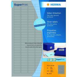 Ετικετες Film Ασημι 63.5x29.6 Laser. Copy 25φυλ/675τεμ Herma