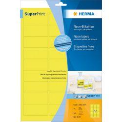 Ετικετες Κιτρινες Νεον Laser. Copy 63.5x29.6 20φυλ/540τεμ Herma