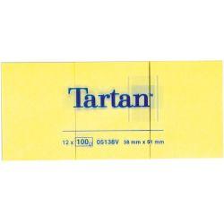 Tartan Αυτοκολλητα Χαρτακια Κιτρινα 38x51mm 12τεμ 3μ Οικονομικη Λυση
