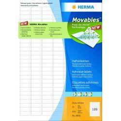 Ετικετες  35.6x16.9 Movable 25φ /2000tem Herma