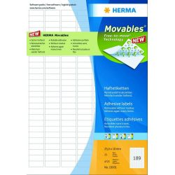 Ετικετες Movable Inkjet. Laser. Copy 45.7x21.2 25φ/1200τεμ Herma