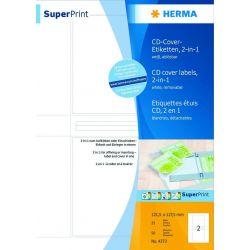 Ετικετες Cd Εξωφυλλα Inkjet. Laser. Copy 25φυλ/50τεμ Αυτοκολλητες Herma