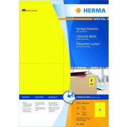 Ετικετες Κιτρινες Inkjet. Laser. Copy 105x148 100φυλ/400τεμ Herma