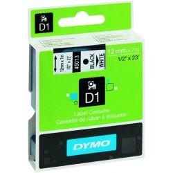 Ταινια Dymo D1 9mmx7m Μαυρη Εκτυπωση/λευκη Ταινια