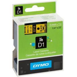 Ταινια Dymo D1 6mmx7m Μαυρη Εκτυπωση/κιτρινη Ταινια