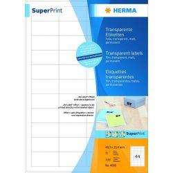 Ετικετες Transparent Laser. Copy 48x25 25φυλ/1100τεμ Herma