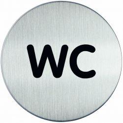 Συμβολο Wc Με Αυτοκολλητο Διαμετρος 83μμ Durable