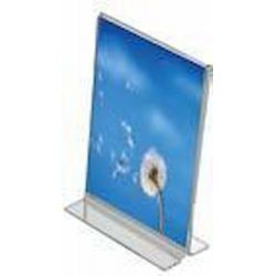 Stand Ακρυλική θήκη διπλής όψης με χώρο για μονό φύλλο