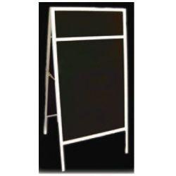 Blackboard Stand από ξύλο εξωτερικού χώρου. διπλής όψης