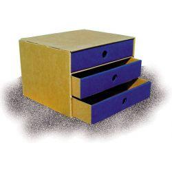 Συρταριερα Α5 Απο Χαρτονι - 3 συρταρια Paperworld