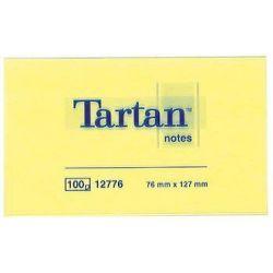 Tartan Αυτοκολλητα Χαρτακια Κιτρινα 76x102mm 3μ Οικονομικη Λυση