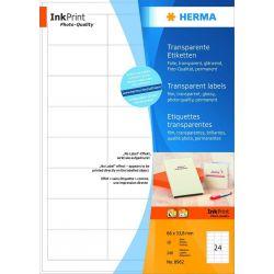 Ετικετες Transparent Inkjet 210x297 10φυλ/10τεμ Herma