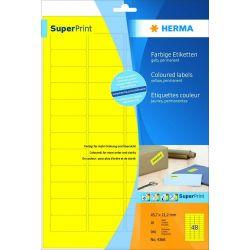 Ετικετες Κιτρινες Inkjet. Laser. Copy 45.7x21.2 20φυλ/960τεμ Herma