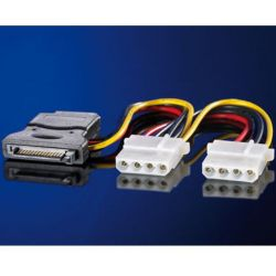 "Sata Cable Τροφοδοσιας 0.15m Σε 3 Molex 5.25"" 11.03.1040 RΟLΙΝΕ"