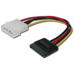 SATA Καλώδιο Τροφοδοσίας 1 Συσκευή 0.15m pc-015 AK-430300-002-M Digitus