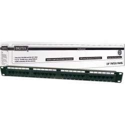 Patchpanel 24 Port Cat6 Utp Μαυρο DN-91624U DΙGΙΤUS