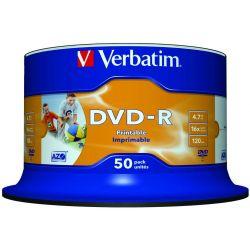 Dvd-R Verbatim Printable Spindle 50 Τεμαχια 4.7Gb/16X