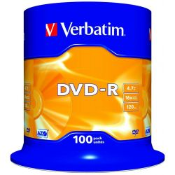 Dvd-R Verbatim Spindle 100 Τεμαχια 4.7Gb/16X