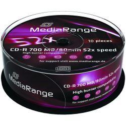 Cd-R Media Range Spindle 10 Τεμαχια 80Min/700Mb/52X Οικονομικη Λυση