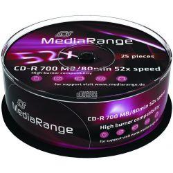 Cd-R Media Range Spindle 25 Τεμαχια 80Min/700Mb/52X Οικονομικη Λυση
