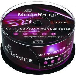 Cd-R Media Range Spindle 50 Τεμαχια 80Min/700Mb/52X Οικονομικη Λυση