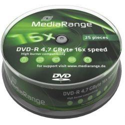Dvd-R Media Range Spindle 25 Τεμαχια 4.7Gb/16X Οικονομικη Λυση