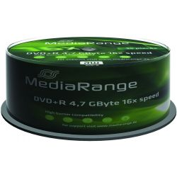 Dvd+R Media Range Spindle 25 Τεμαχια 4.7Gb/16X Οικονομικη Λυση