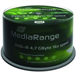 Dvd-R Media Range Spindle 50 Τεμαχια 4.7Gb/16X