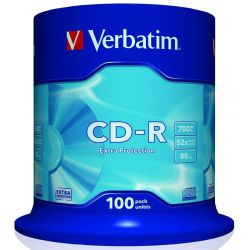 Cd-R Verbatim Spindle 100 Τεμαχια 80Min/700Mb/52X