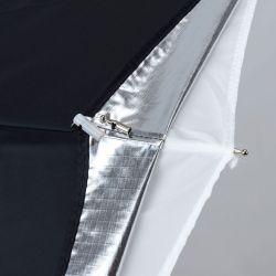 Ομπρέλα Όλα-σε-ένα, 72CM, ασημί/λευκή LA 3237 Lastolite