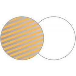 Στρογγυλός ανακλαστήρας 120cm λευκό/ριγέ ασημί-χρυσό LA 4806 Lastolite