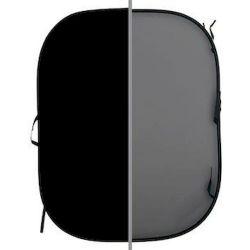 Μονόχρωμo πτυσσόμενo φόντo. Αντιστρεφόμενο, 150 x 180 εκ. Black/Mid-Grey LA 56GB Lastolite
