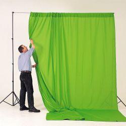 Φόντo κουρτίνας Chromakey Πράσινο, 3 x 3,5m LA 5781 Lastolite