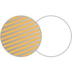 Οβάλ ανακλαστήρας 180x120cm λευκό/ριγέ ασημί-χρυσό LA 7206 Lastolite