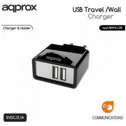 Charging Adapter Wall 2 X Usb 2.1a Black USBWALL21B ΑΡΡRΟΧ