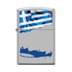 Αναπτήρας Crete And Greek Flag 205-015038 Crete And Greek Flag Ci018489 Zippo