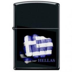 Αναπτήρας Greek Flag 218-009435 Greek Flag Fist Zippo