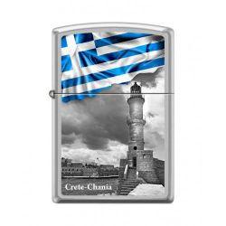 Αναπτήρας Greek Flag Chania 205-015039 Greek Flag Chania Ci018490 Zippo