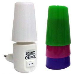 Φωτακι νυκτος με διακοπτη led 2700K 4 χρωματα 1W Ferrara 147-15053