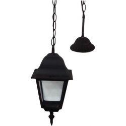 Φωτιστικο κρεμαστο αλουμινιου τετραγωνο μαυρο ε27 Ferrara 154-55109