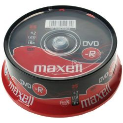 Dvd-R Maxell Spindle 25 Τεμαχια 4.7Gb/16X