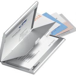 Θηκη Αλουμινιου Για Business Cards 10 + 10 Καρτες 90Χ55Μμ Με Διαχωριστικο Durable 2433