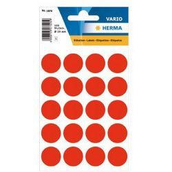 Ετικετες Στρογγυλες 19Μμ Κοκκινες Φωσφοριζε Herma 1876