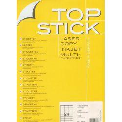 Ετικετες Inkjet. Laser. Copy 70X36 100Φυλ/2400Τεμ Topstick Οικονομικη Λυση