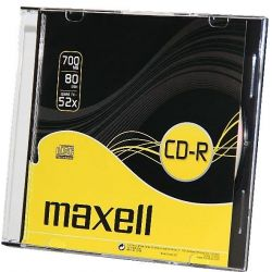Cd-R Maxell Slim 52X/80 700Mb .