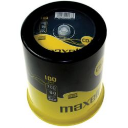 Cd-R Maxell Spindle 100 Τεμαχια 700Mb/52X
