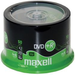 Dvd+R Maxell Spindle 50 Τεμαχια 4.7Gb/16X