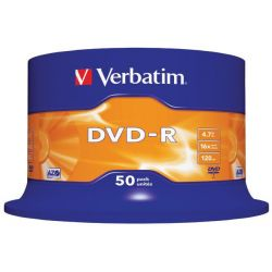 Dvd-R Verbatim Spindle 50 Τεμαχια 4.7Gb/16X